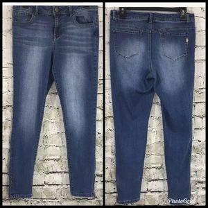1822 Denim Jeans Zip Ankle Skinny Jeans